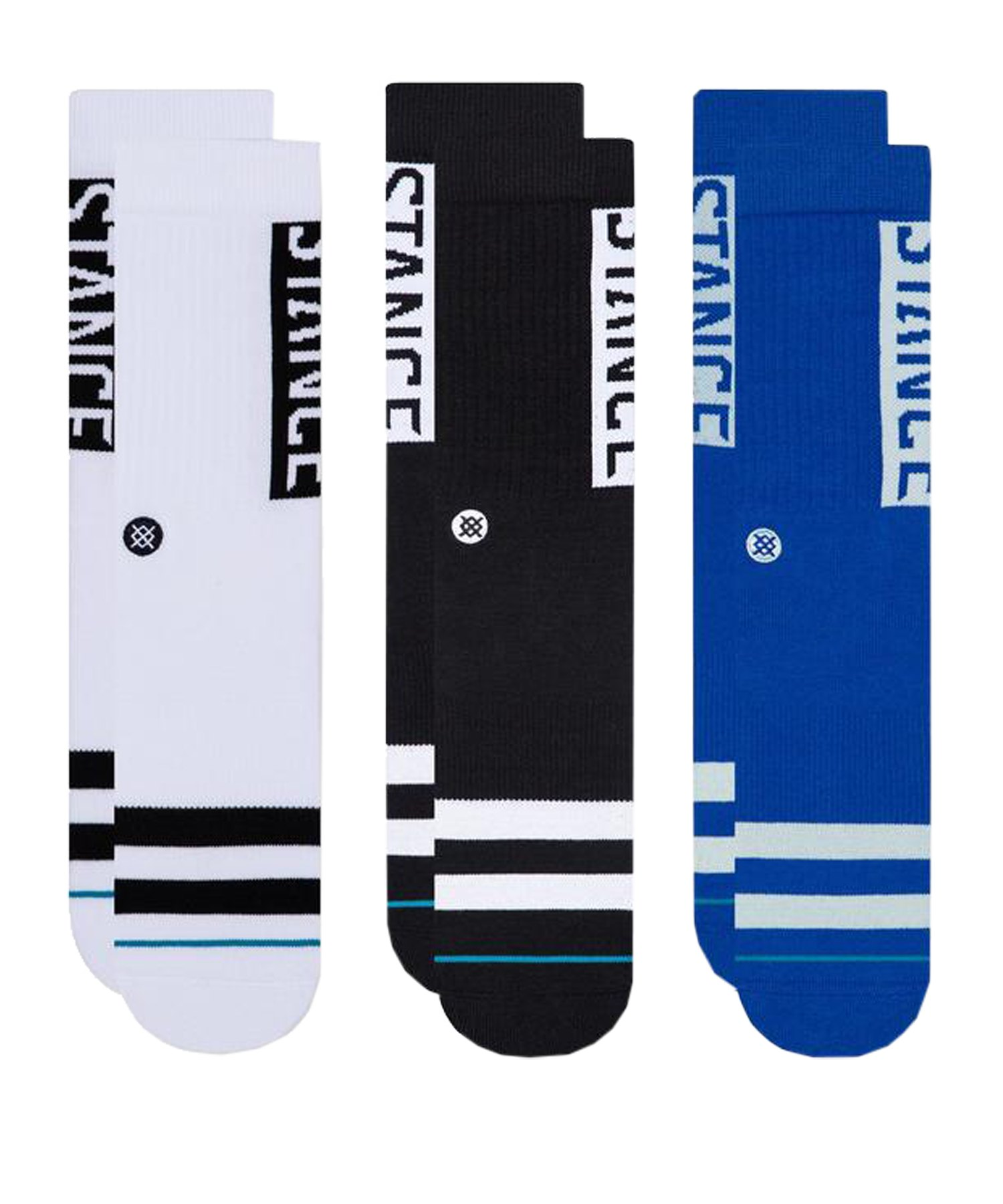 Stance OG 3er Pack Socken Multicolor - schwarz
