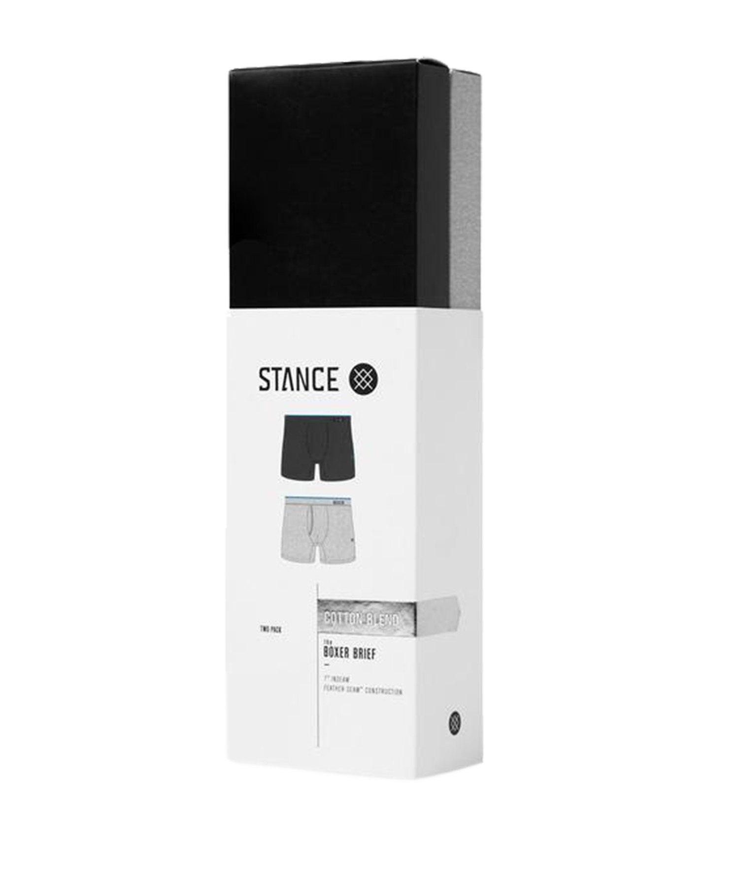 Stance Standard Brief Boxer 2er Pack Schwarz Grau - schwarz
