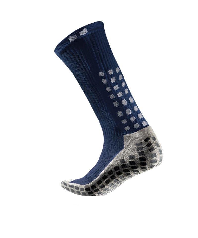 TruSox Socken Mid Calf Cushion Dunkelblau Weiss - blau