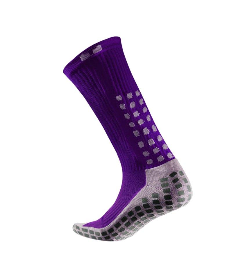 TruSox Socken Mid Calf Cushion Lila Weiss - lila