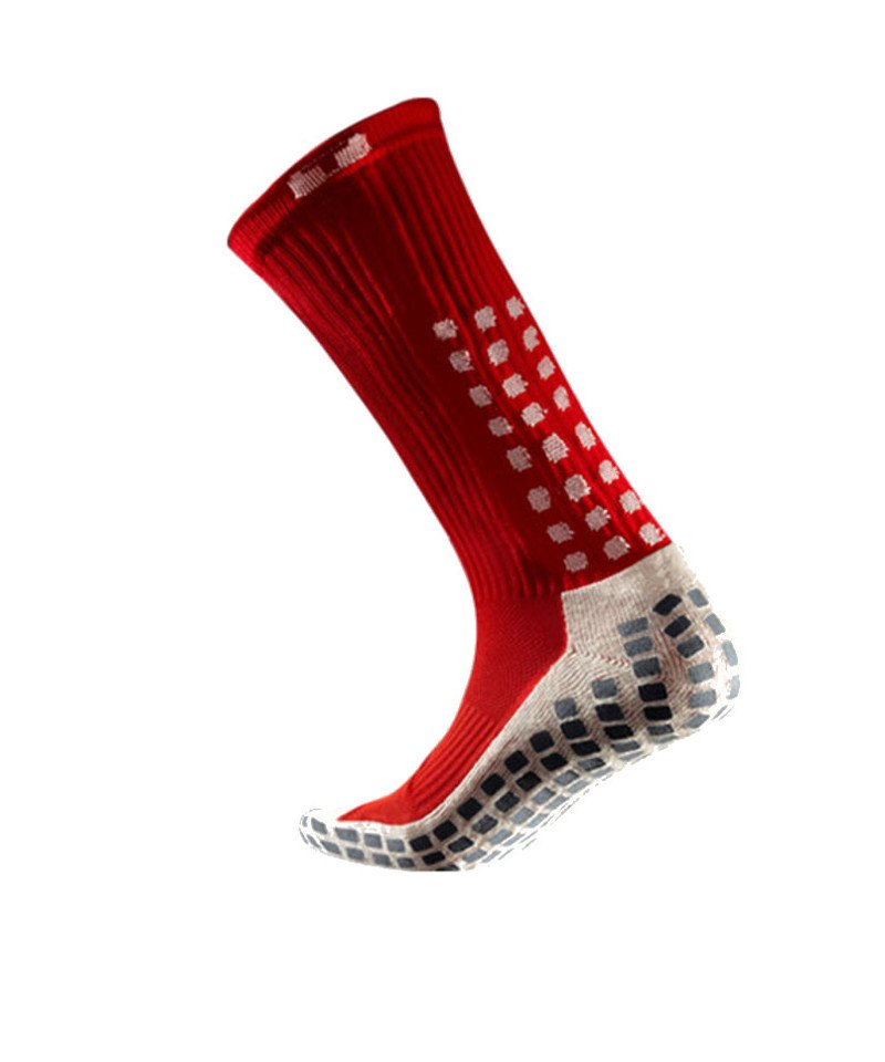 TruSox Socken Mid Calf Cushion Rot Weiss - rot