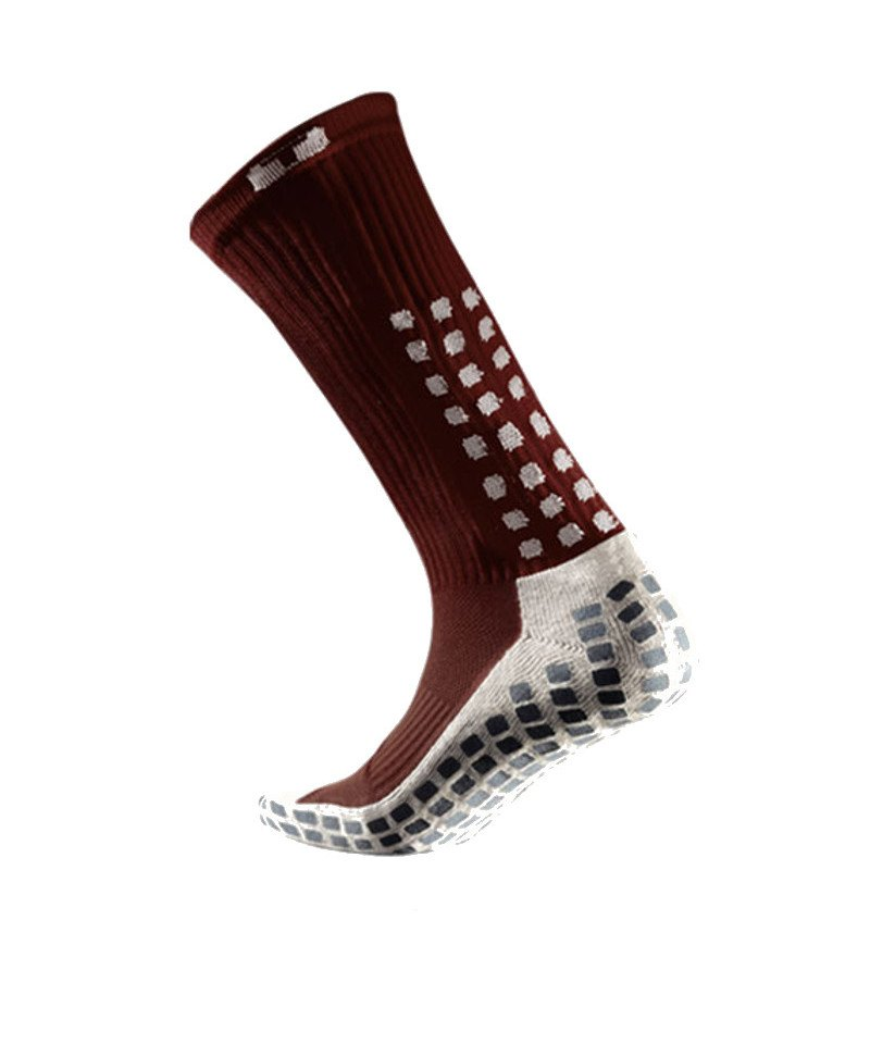 TruSox Socken Mid Calf Cushion Weinrot Weiss - rot