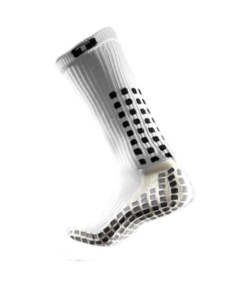 TruSox Socken Mid Calf Cushion Weiss Schwarz - weiss