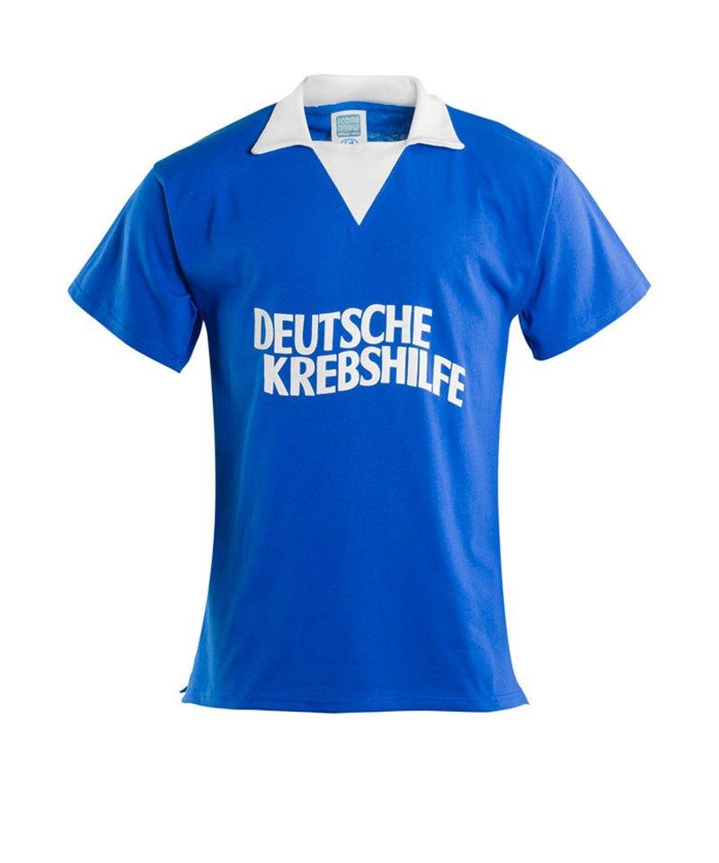 FC Schalke 04 Trikot Retro Deutsche Krebshilfe - blau