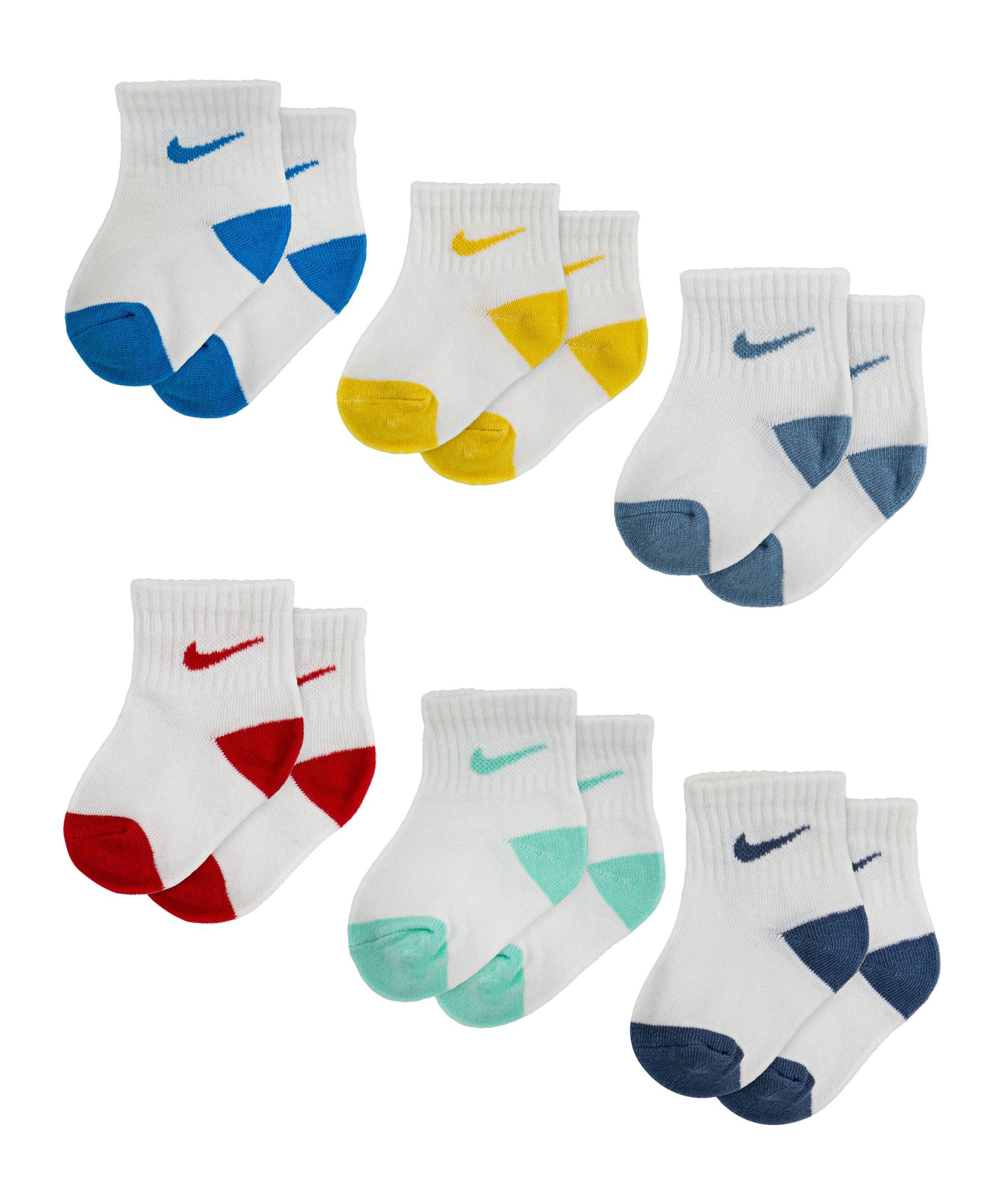 Nike Pop Color Ankle 6er Pack Kids Blau FU3H - blau