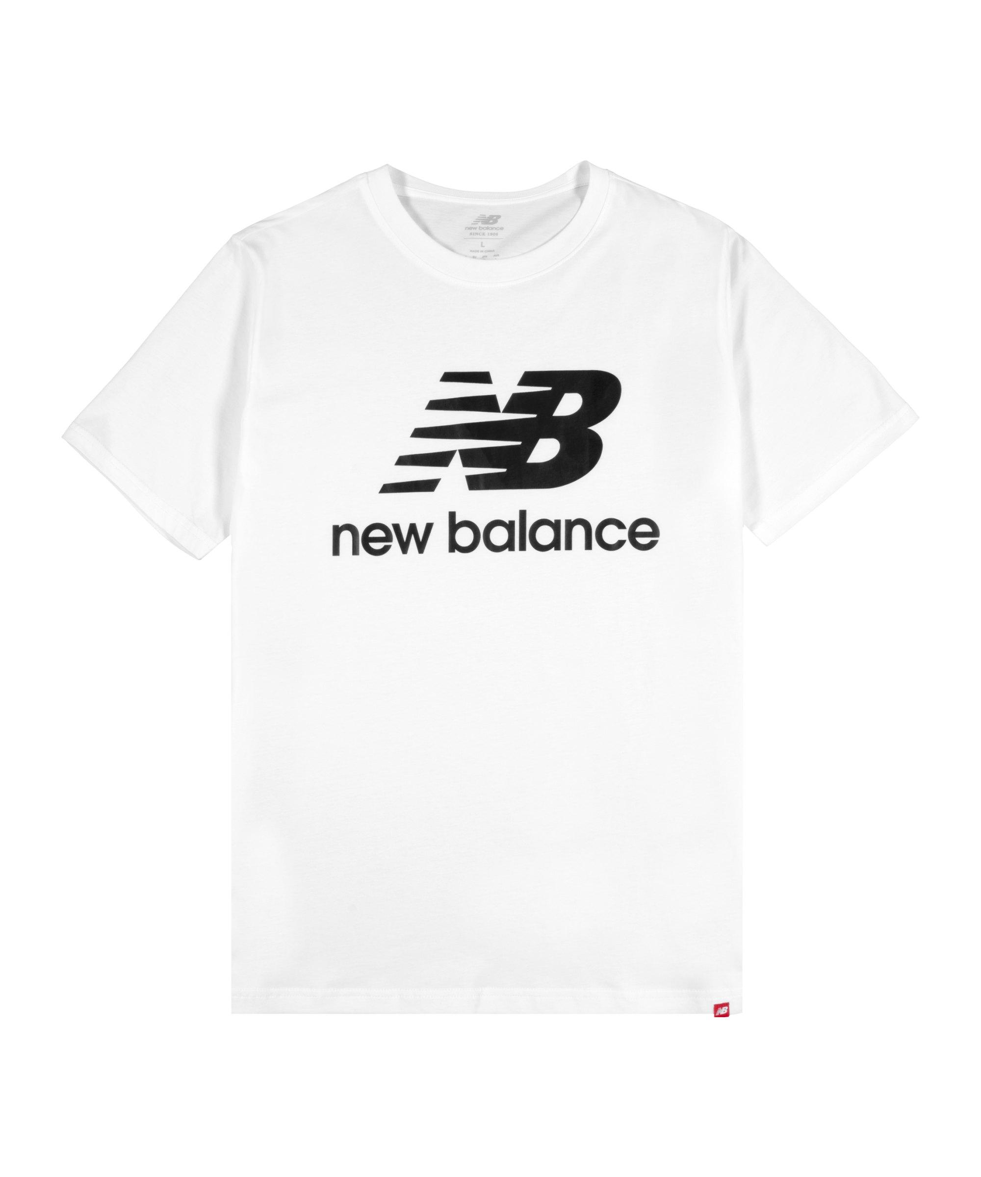 New Balance Essentials Stacked Logo T-Shirt F03 - weiss