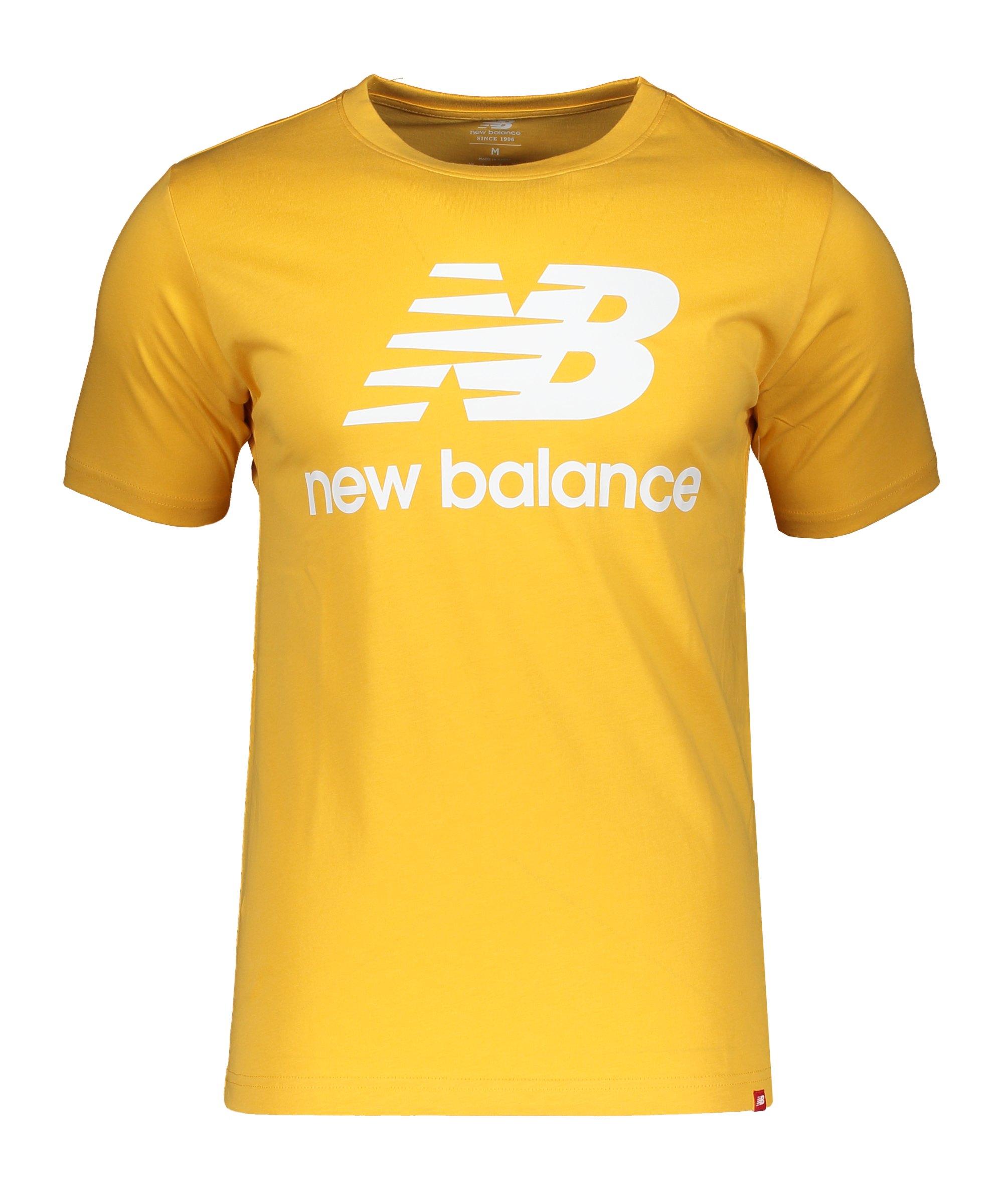 New Balance Essentials Stacked Logo T-Shirt FASE - gelb