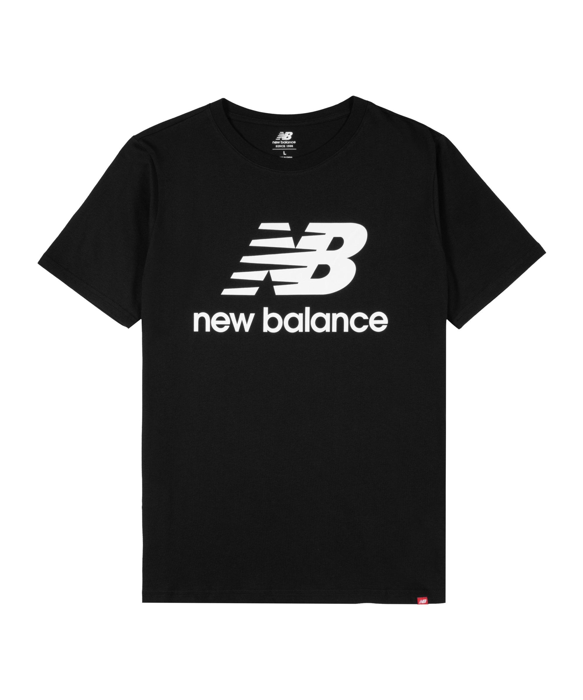New Balance Essentials Stacked Logo T-Shirt FBK - schwarz