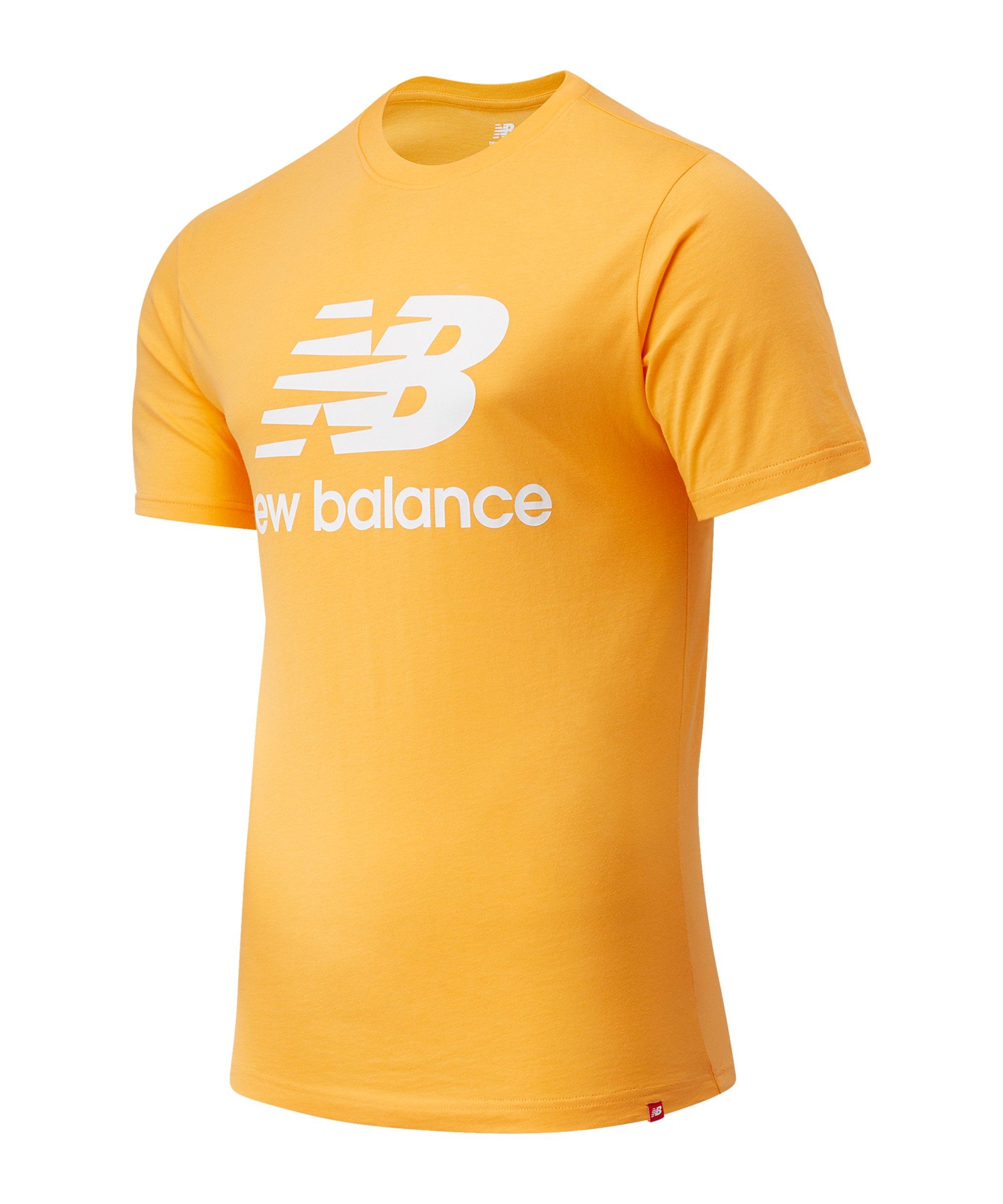 New Balance Essentials Stacked Logo T-Shirt FHAB - orange