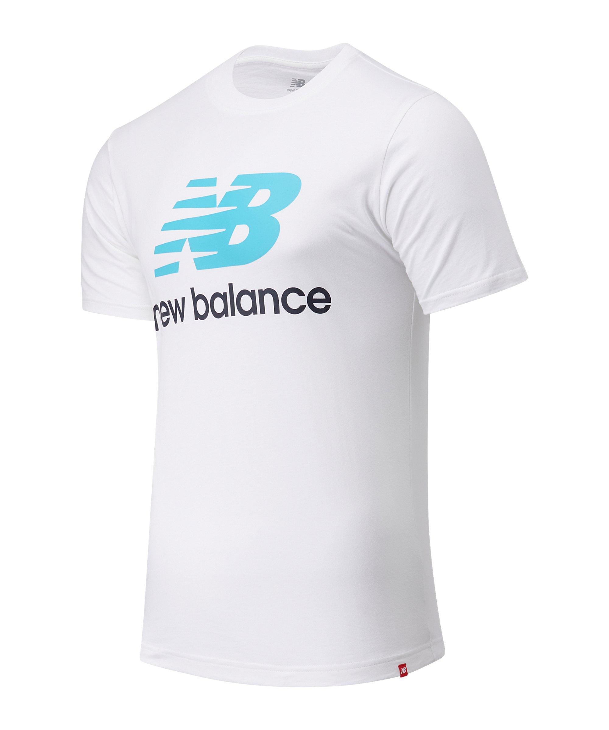 New Balance Essentials Stacked Logo T-Shirt FVLS - weiss