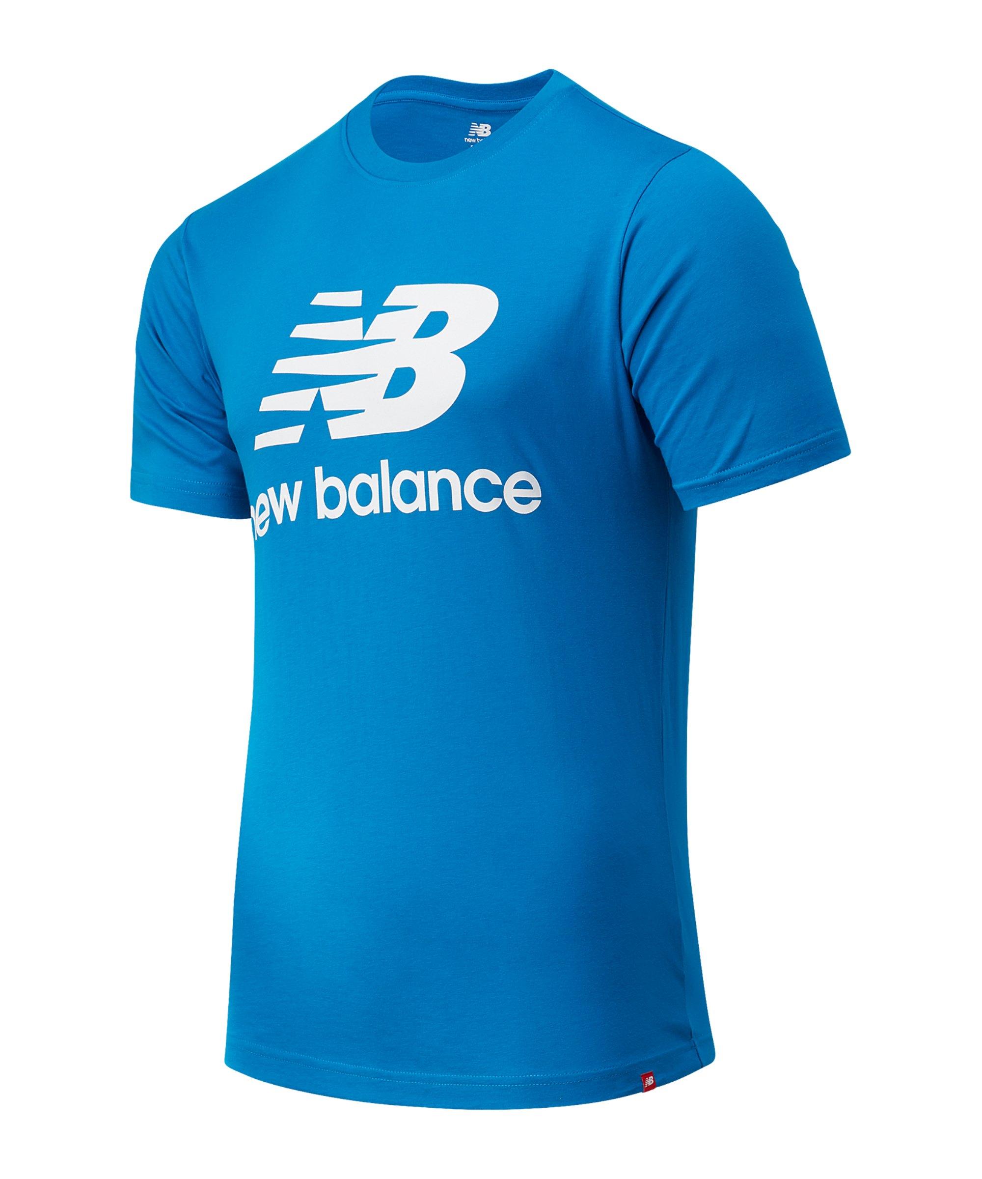 New Balance Essentials Stacked Logo T-Shirt FWAB - blau