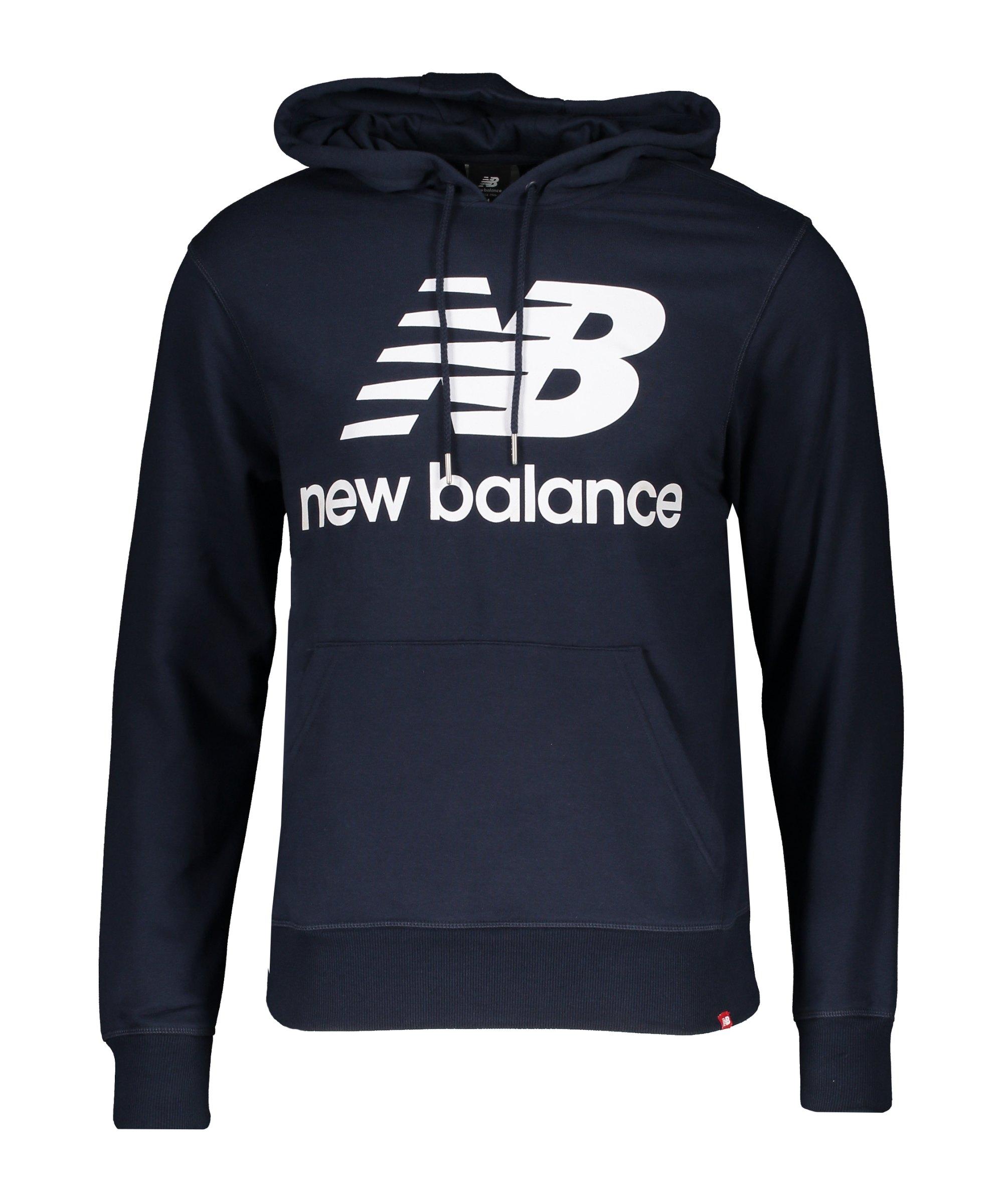 New Balance Essentials Stacked Logo Hoody F103 - blau