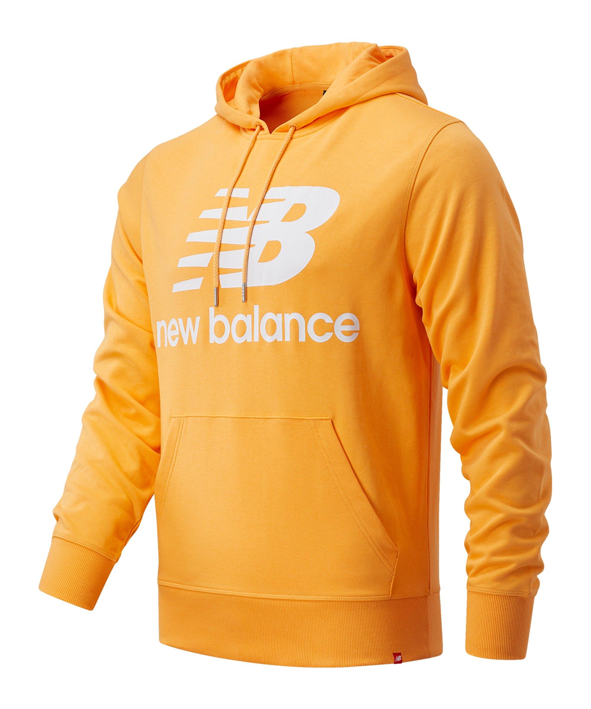 New Balance Essentials Stacked Logo Hoody FHAB - orange