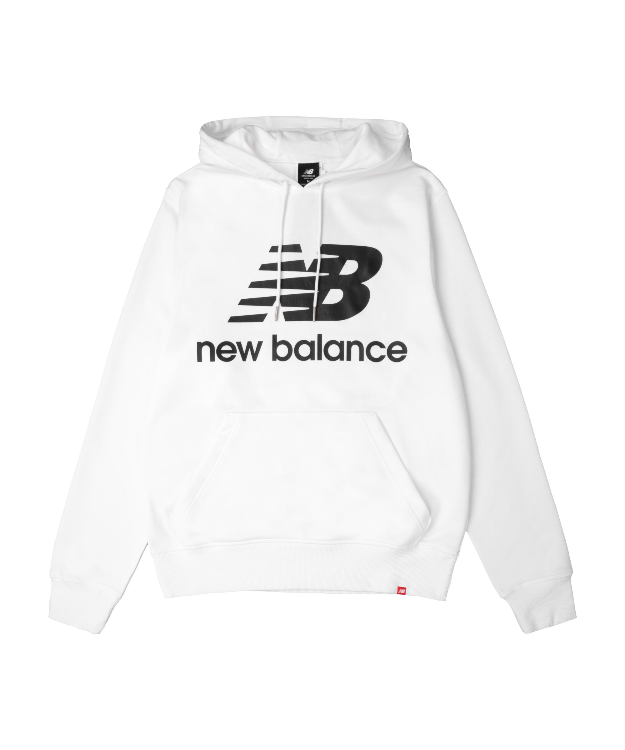 New Balance Essentials Stacked Logo Hoody FWT - weiss