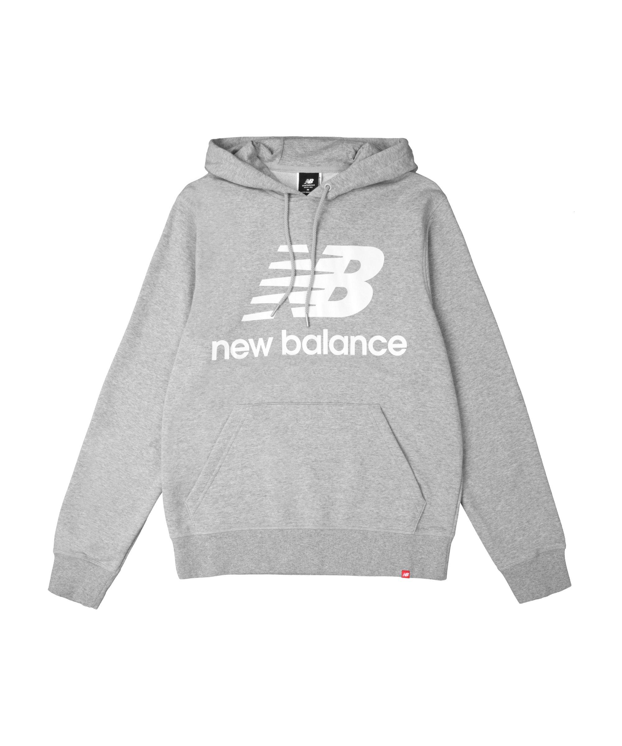 New Balance Essentials Stacked Logo Hoody Grau FAG - grau