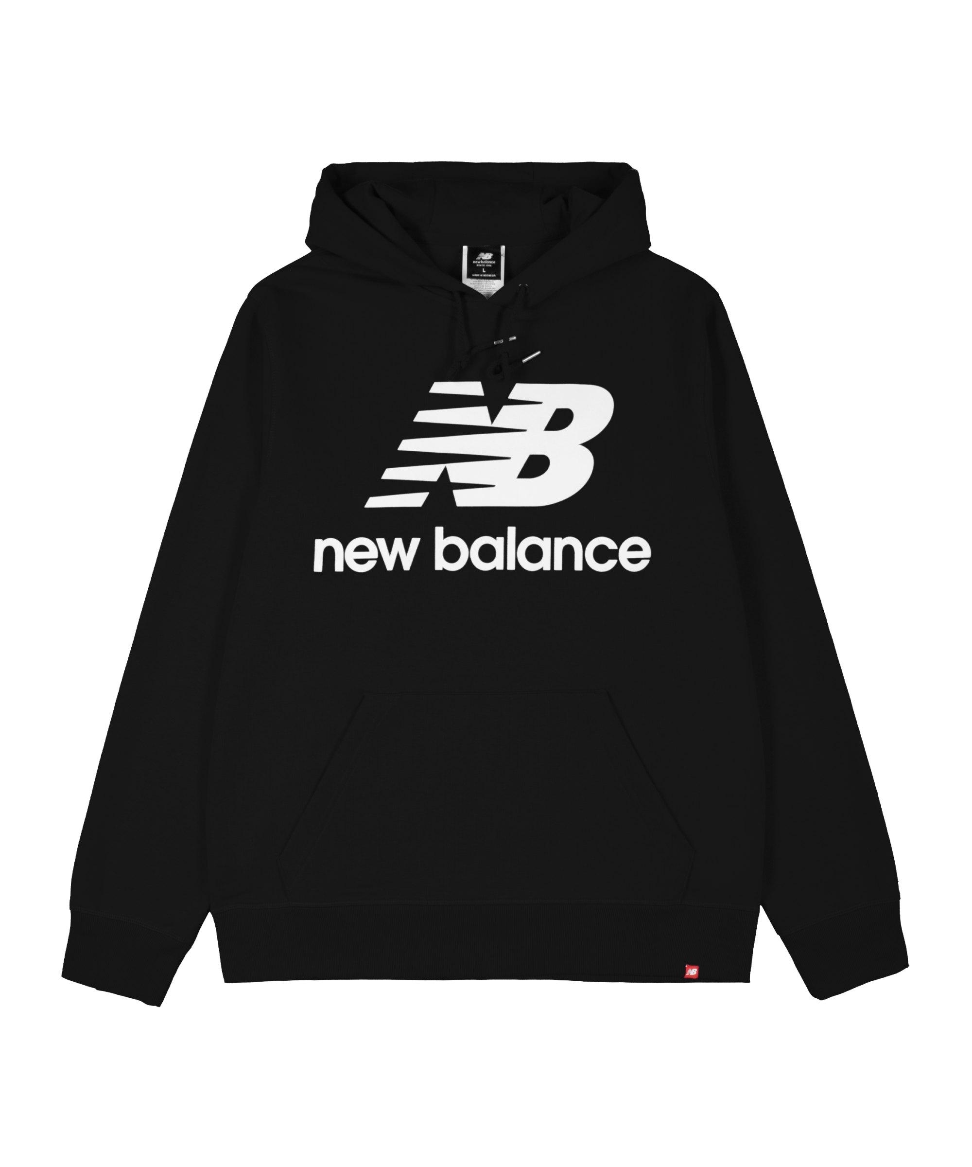 New Balance Essentials Stacked Logo Polo FBK - schwarz