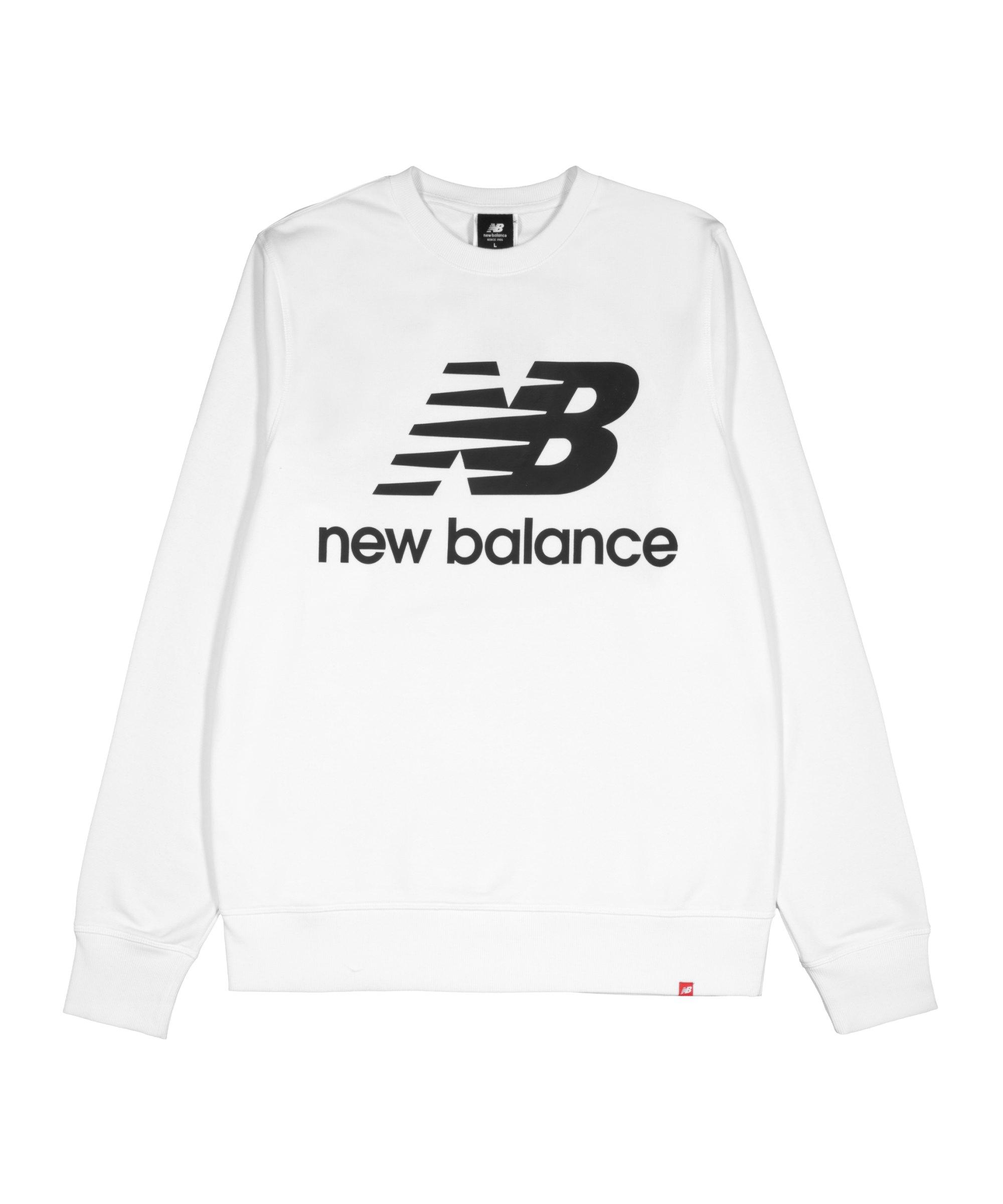 New Balance Essentials Logo Sweatshirt Weiss FWT - weiss