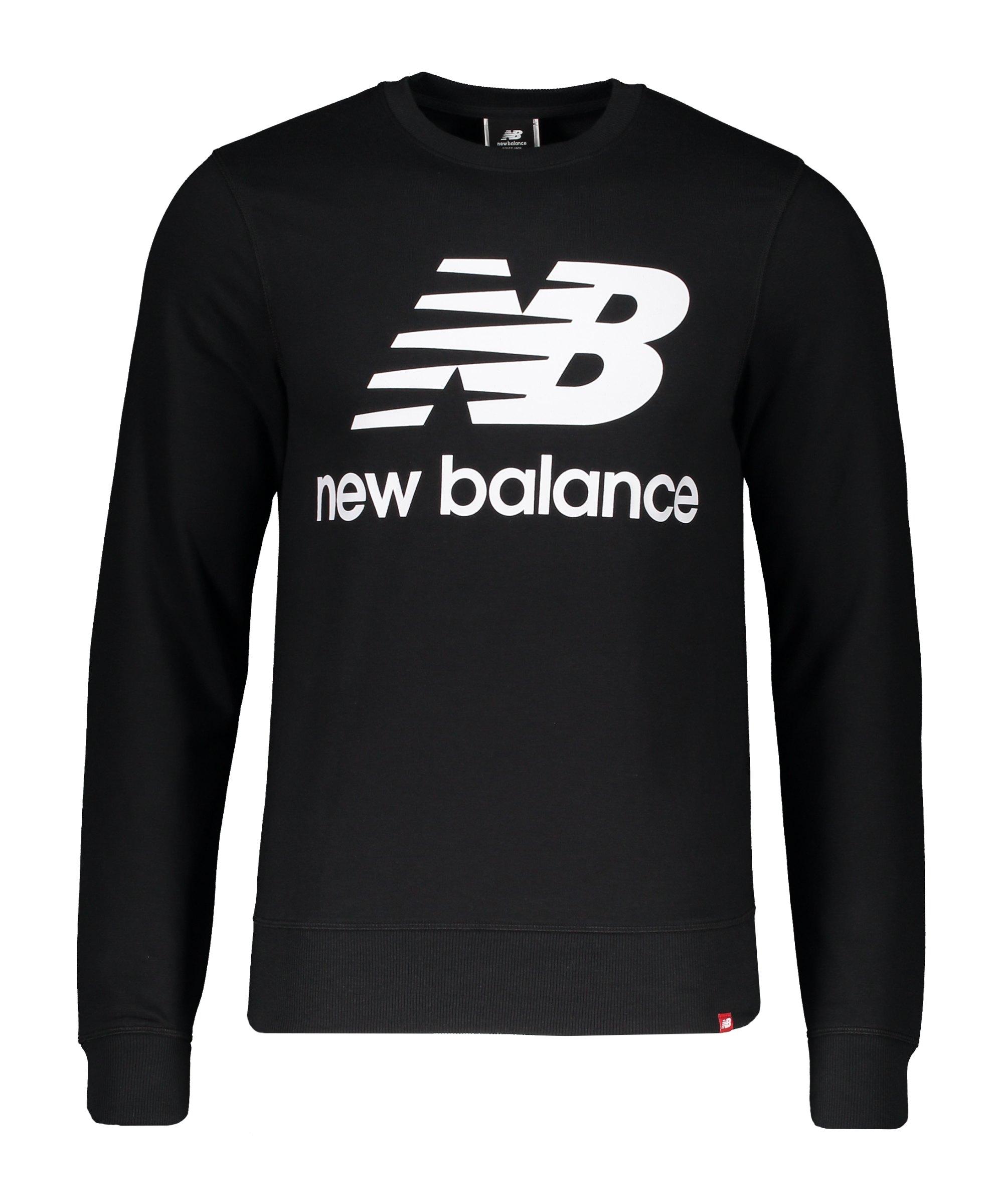 New Balance Essentials Stacked Logo Sweatshirt F08 - schwarz