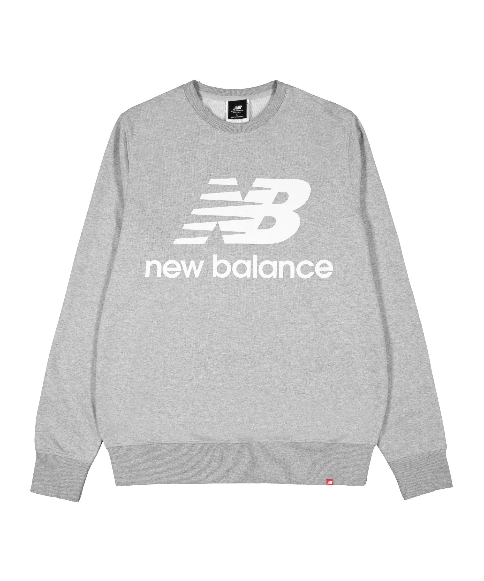 New Balance Essentials Stacked Logo Sweatshirt FAG - grau