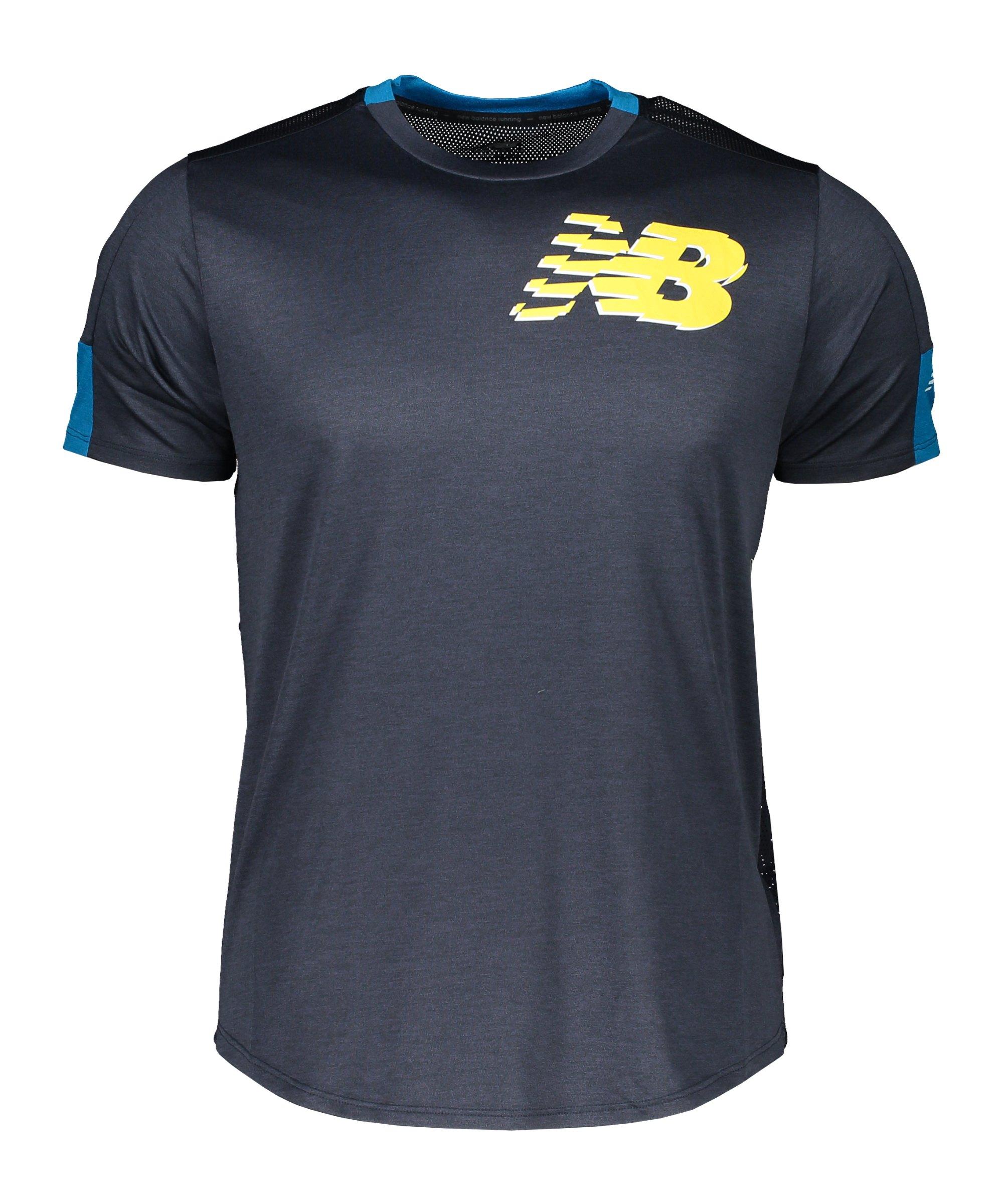 New Balance Printed Fast Flight T-Shirt FBYU - schwarz