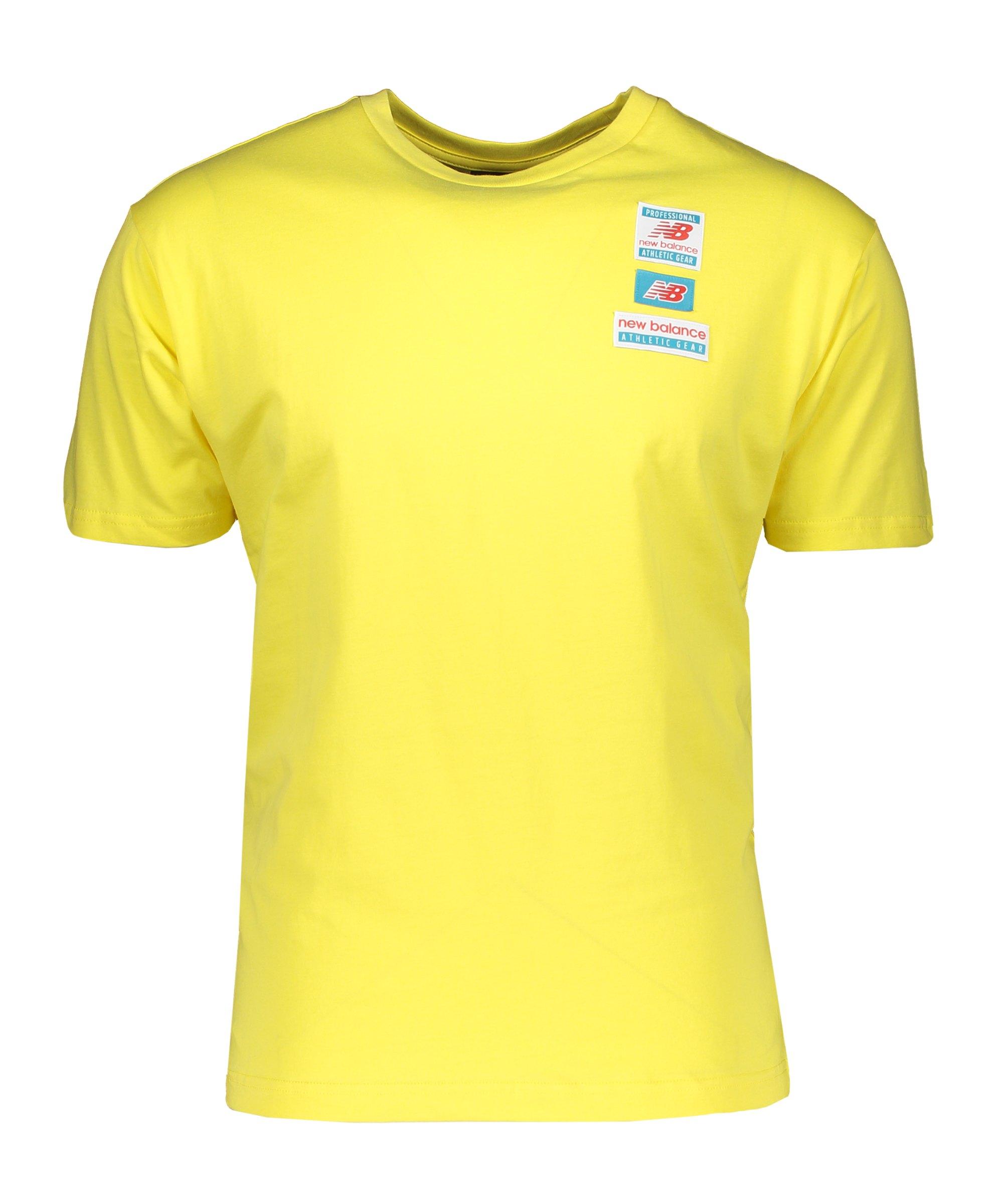 New Balance Essentials Tag T-Shirt Gelb FFTL - gelb