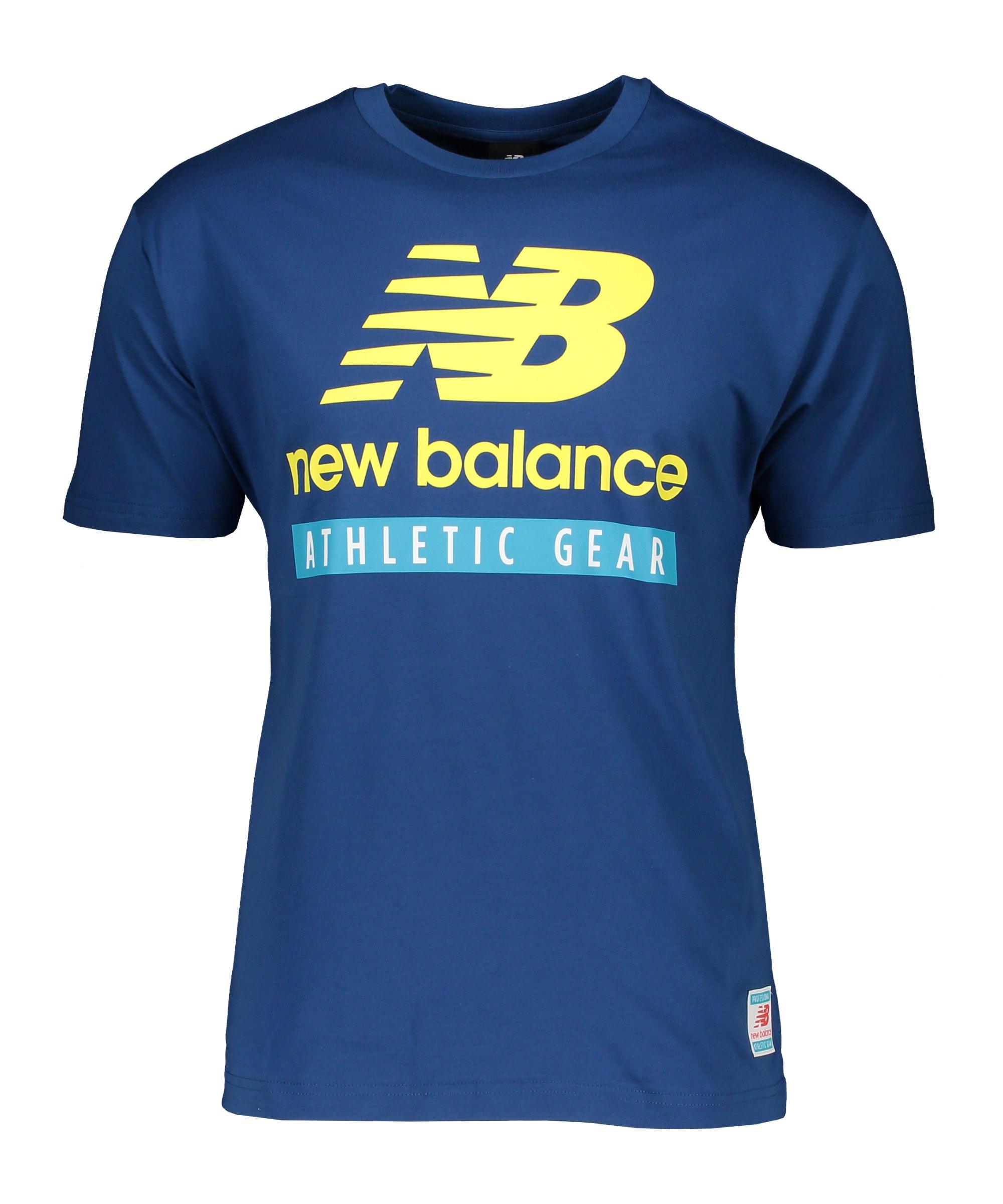 New Balance Essentials Logo T-Shirt Blau FCNB - blau