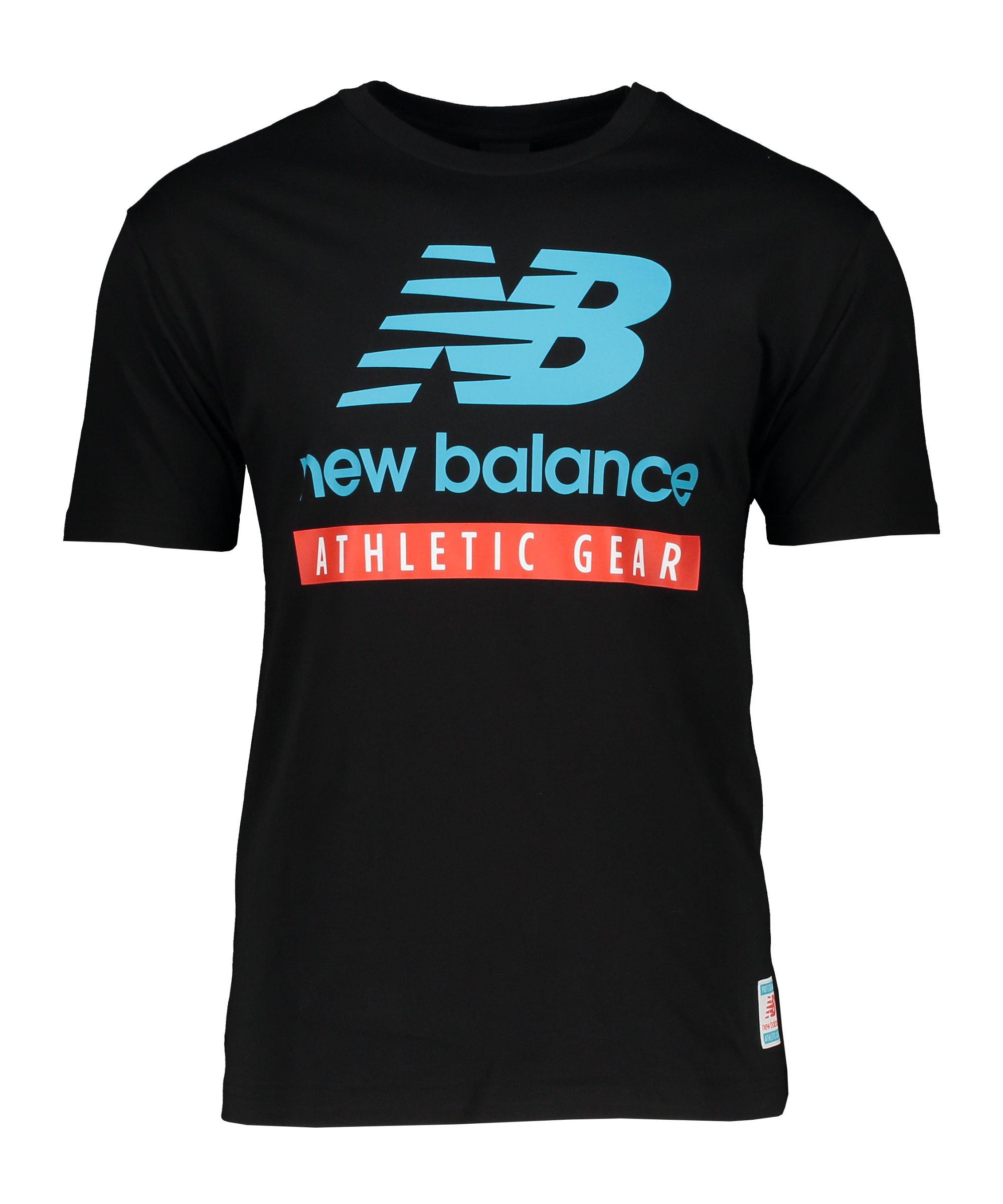 New Balance Essentials Logo T-Shirt Schwarz FBK - schwarz