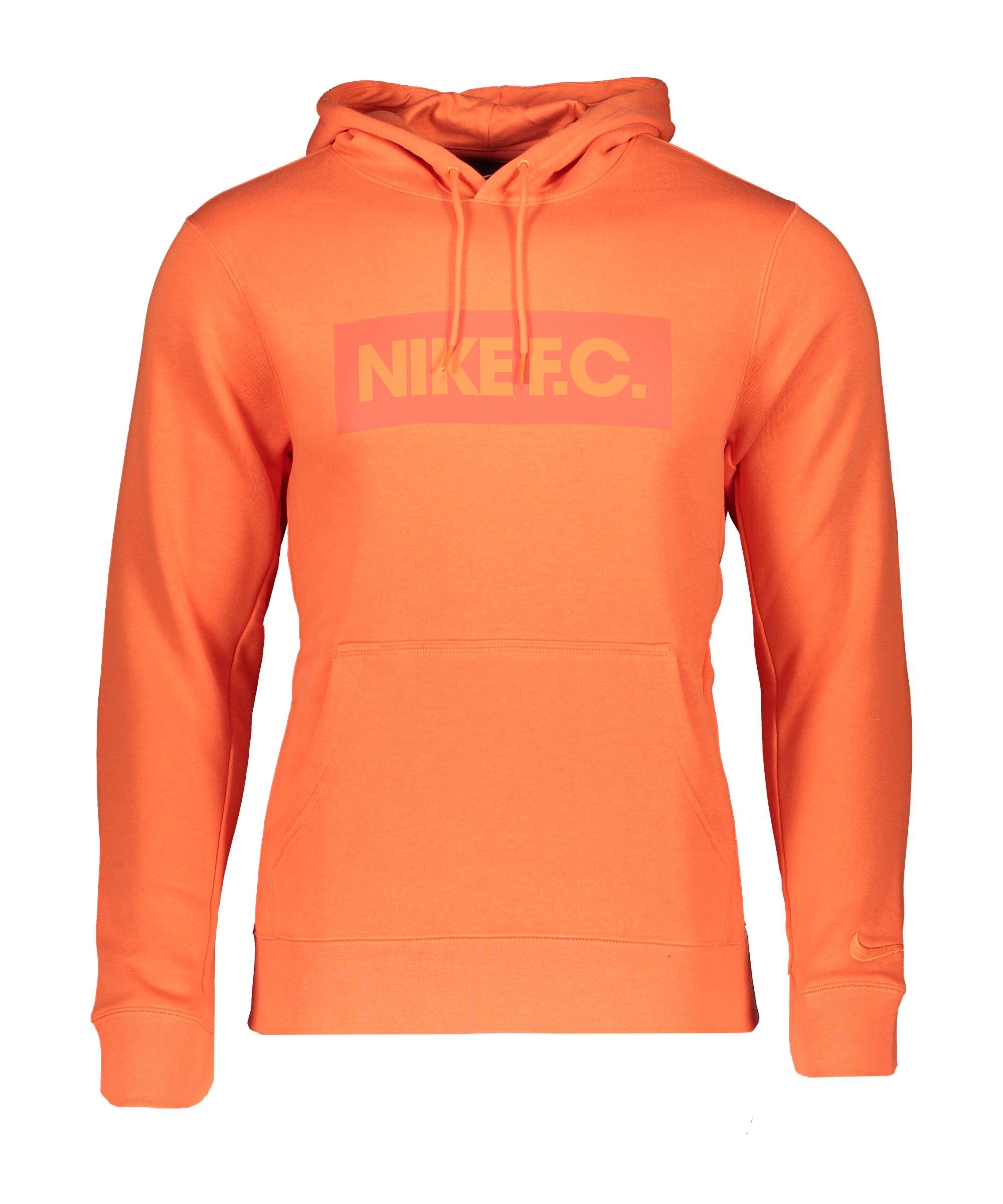 Nike F.C. Fleece Hoody Orange F837 - orange
