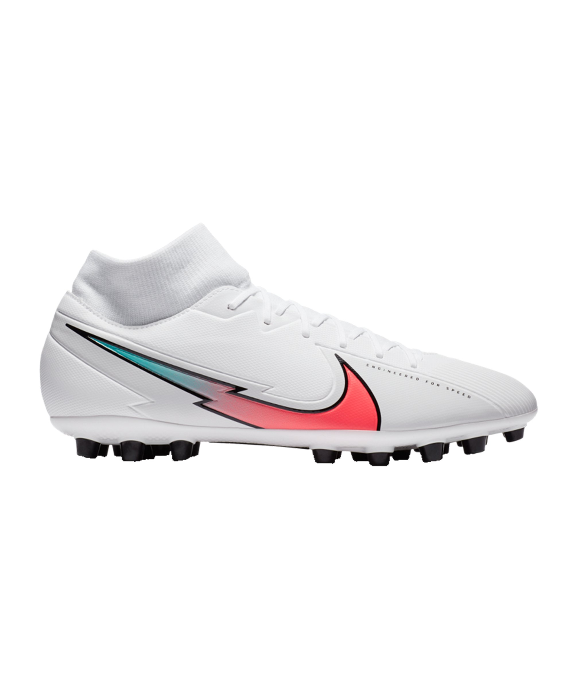 Nike Mercurial Superfly VII Flash Crimson Academy AG Weiss F163 - weiss