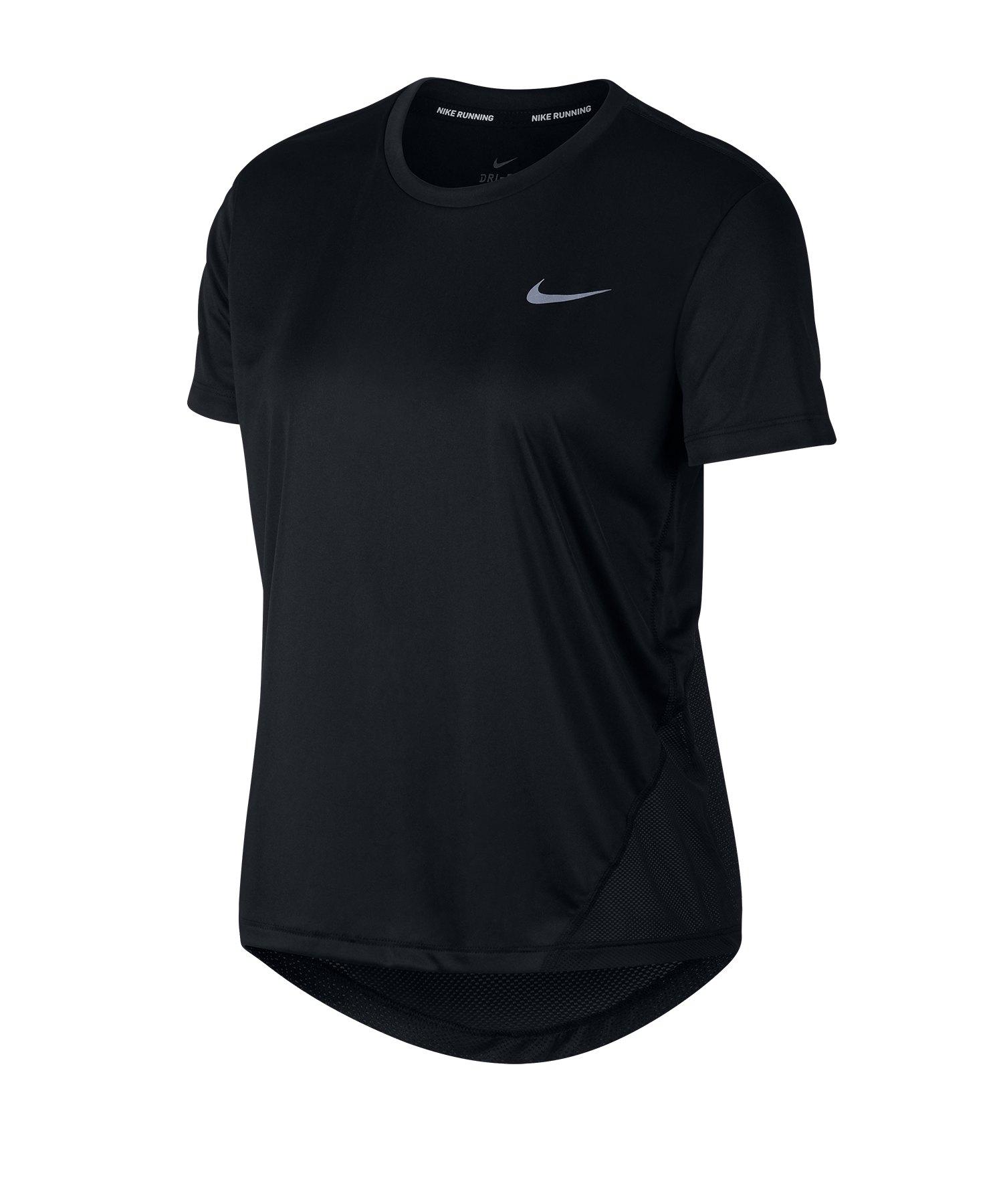 Nike Miller T-Shirt Running Damen Schwarz F010 - schwarz
