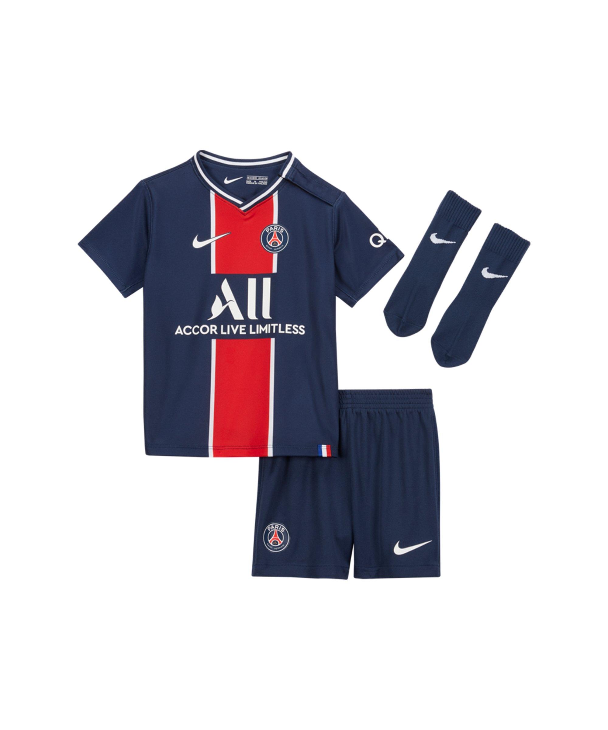 Nike Paris St. Germain Baby Kit Home 20/21 F411 - blau