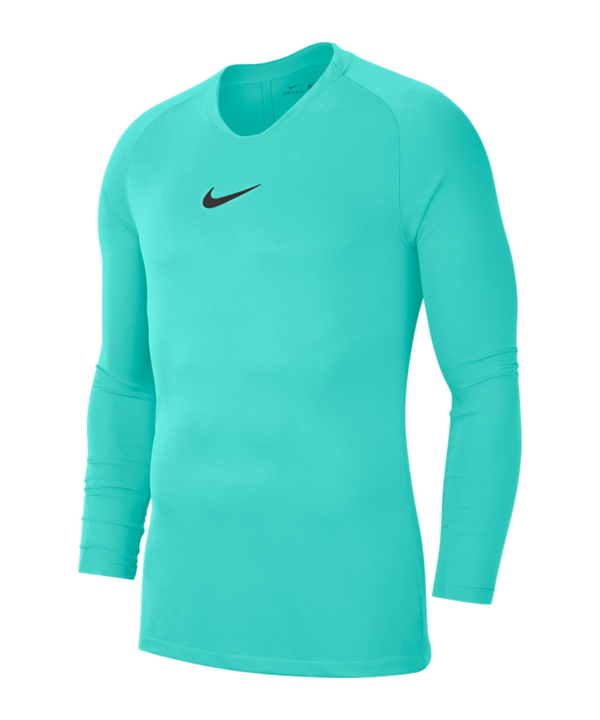 Nike Park First Layer Top langarm Kids Blau F354 - blau