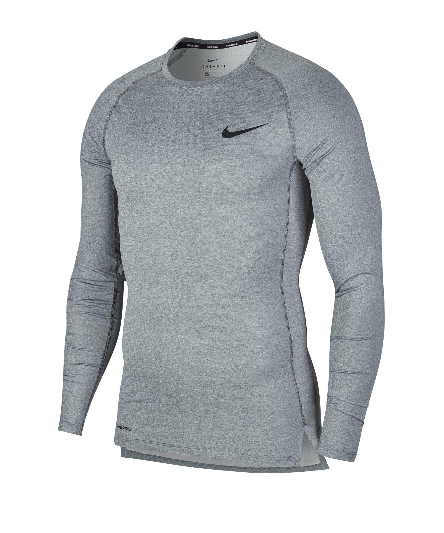Nike Pro Langarmshirt Grau F068 - grau
