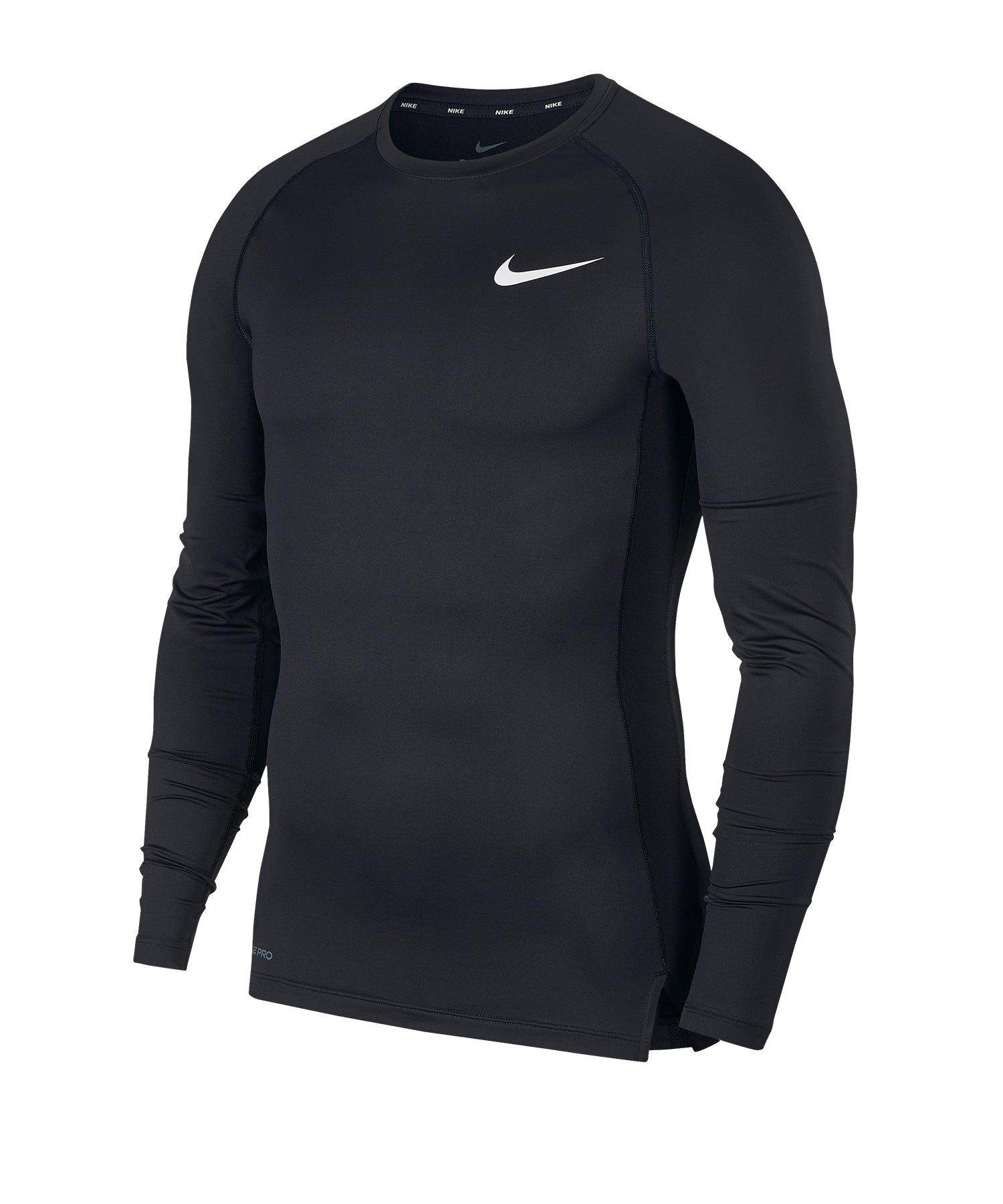 Nike Pro Langarmshirt Schwarz F010 - schwarz