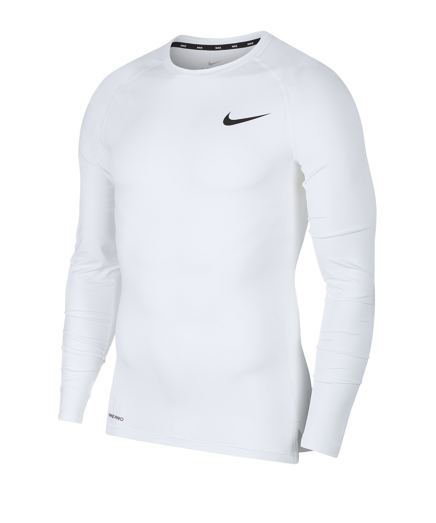 Nike Pro Langarmshirt Weiss F100 - weiss