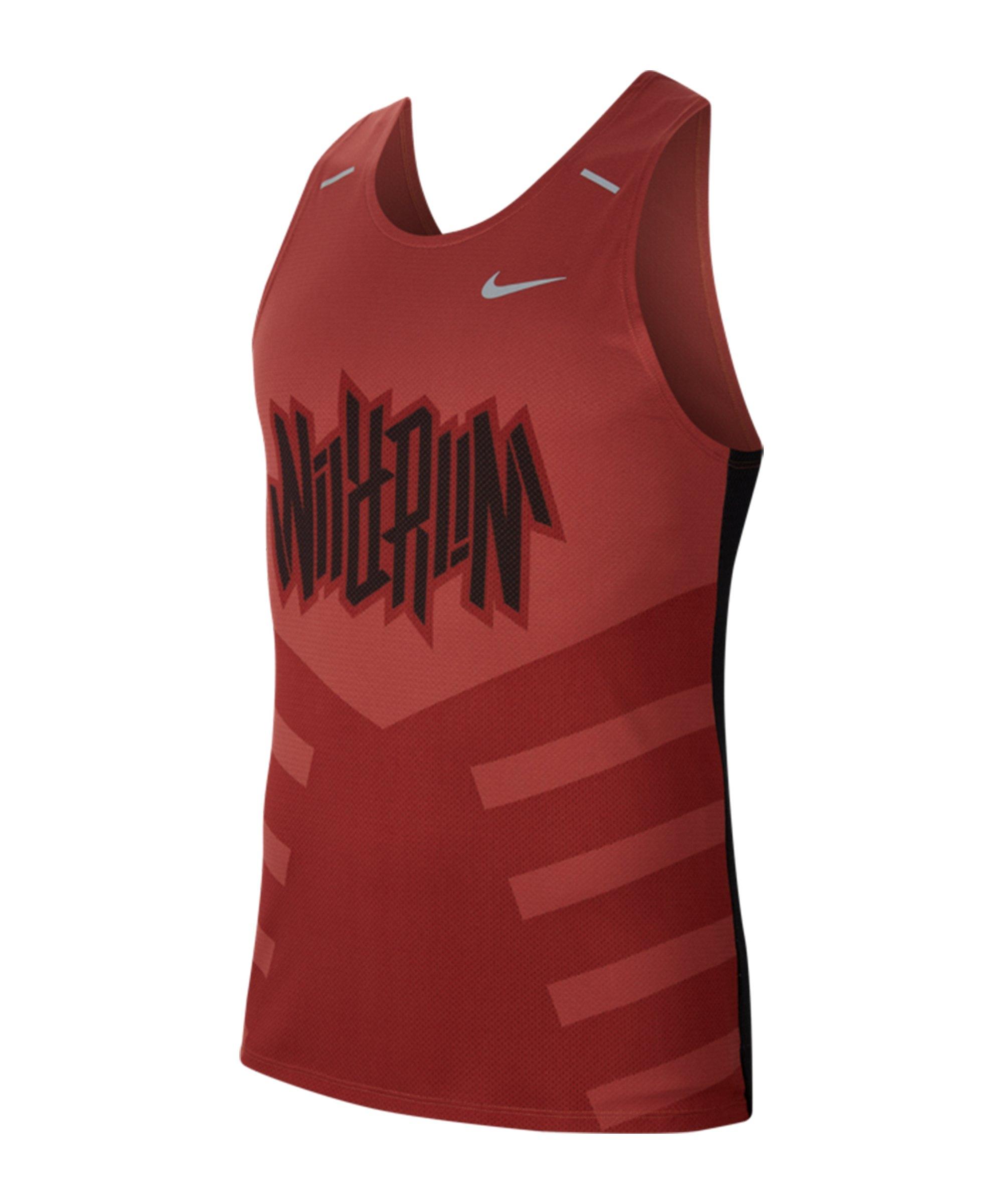 Nike Rise 365 Wild Run Tanktop Running Rot F652 - rot