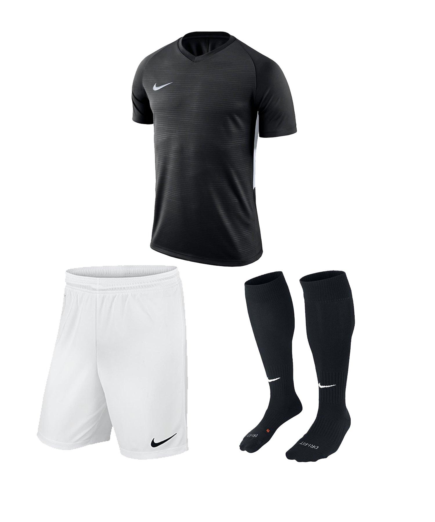 Nike Tiempo Premier Trikotset Kids Schwarz F010 - schwarz