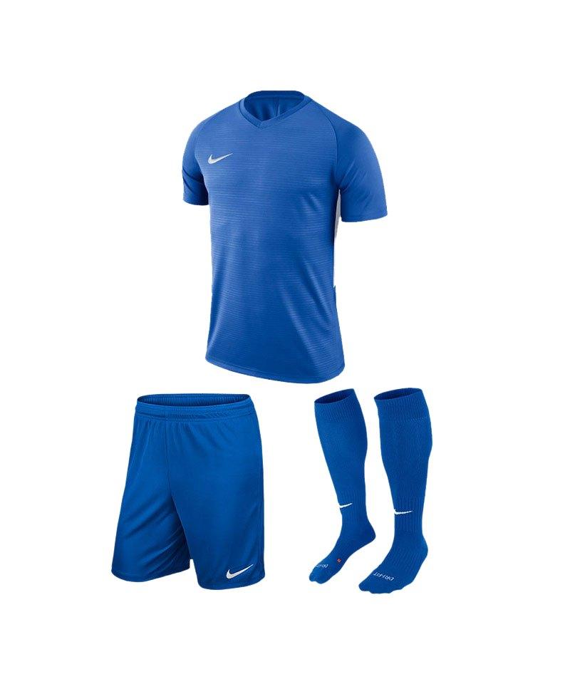 Nike Trikotset Tiempo Premier Blau Weiss F463 - blau