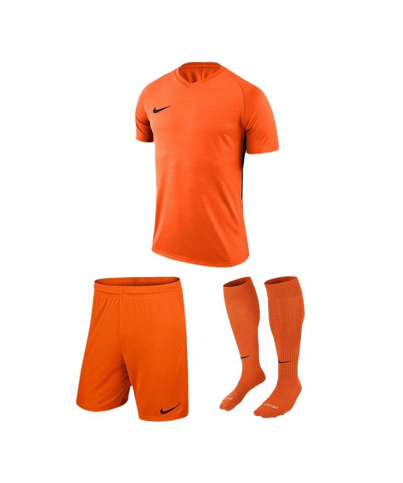 Nike Trikotset Tiempo Premier Orange Schwarz F815 - orange