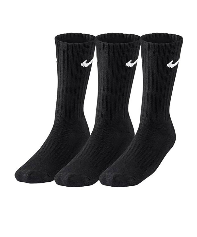 Nike Socken Value Cotton Crew 3er Pack F001 - schwarz