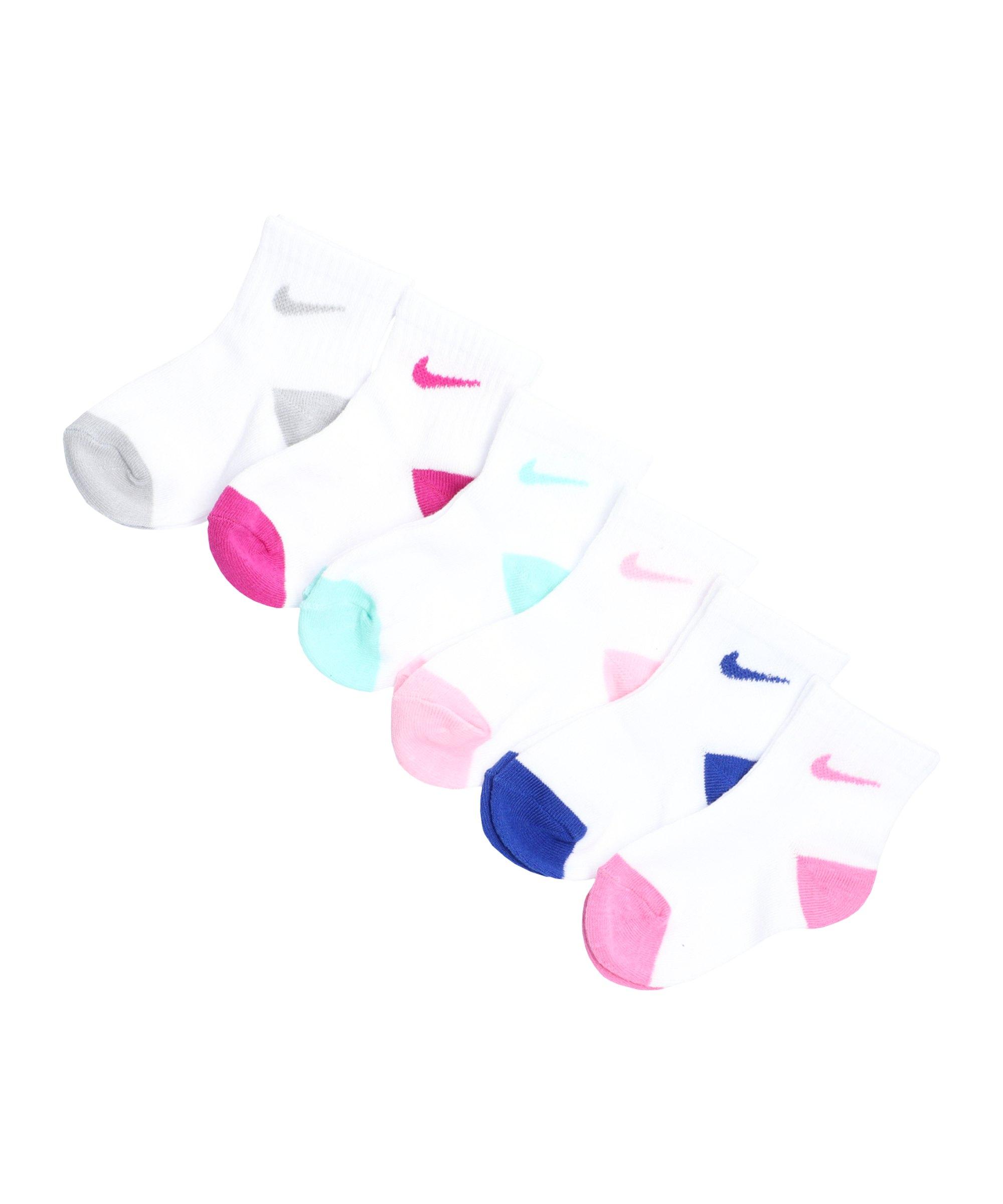 Nike Pop Color Ankle 6er Pack Kids Pink FA8F - pink
