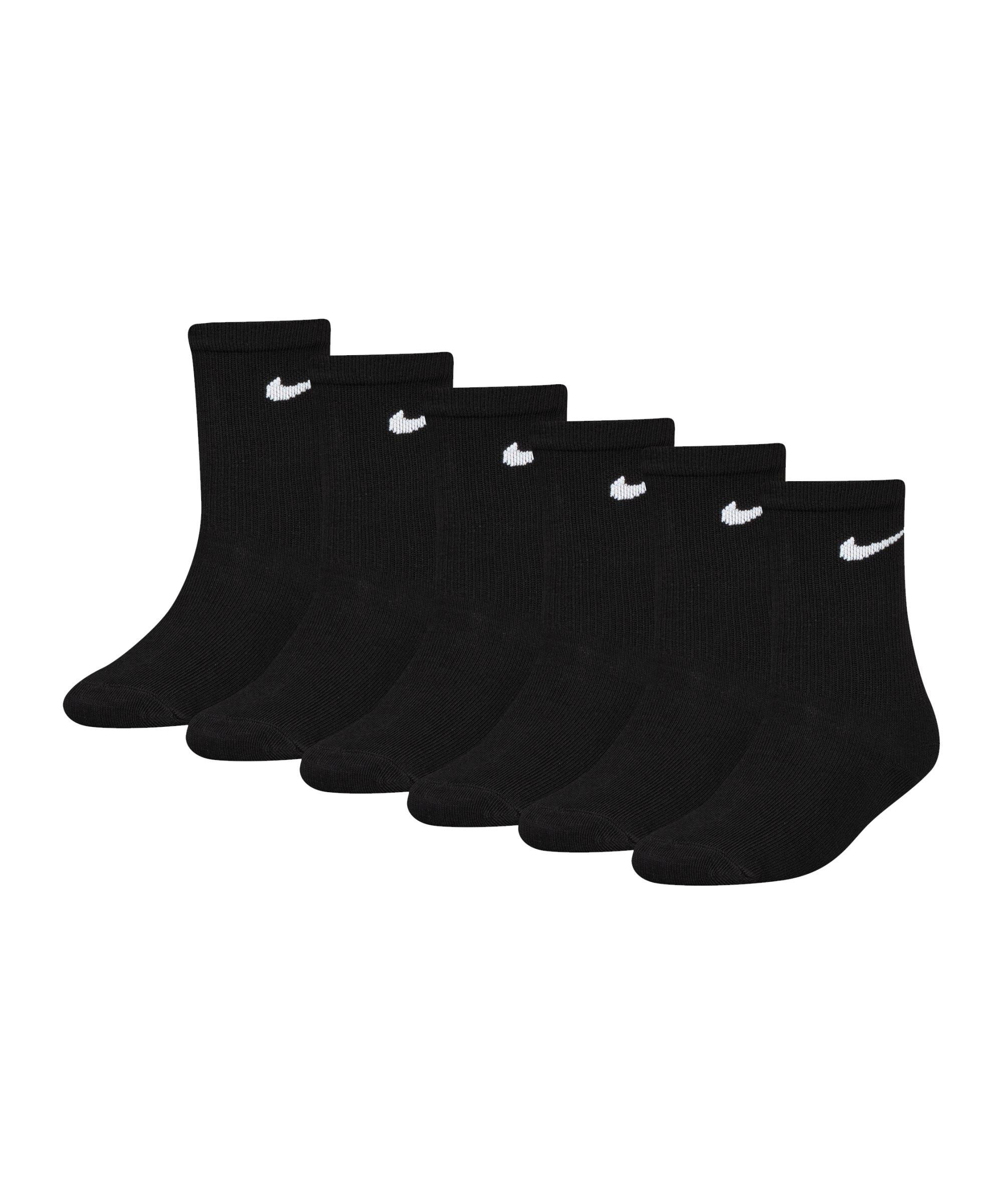 Nike Colorful Crew 6er Pack Socken Kids 4-7 F023 - schwarz
