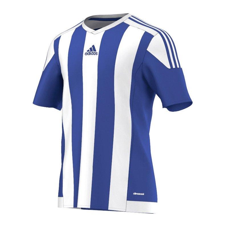 adidas Striped 15 Trikot kurzarm Dunkelblau Weiss - blau