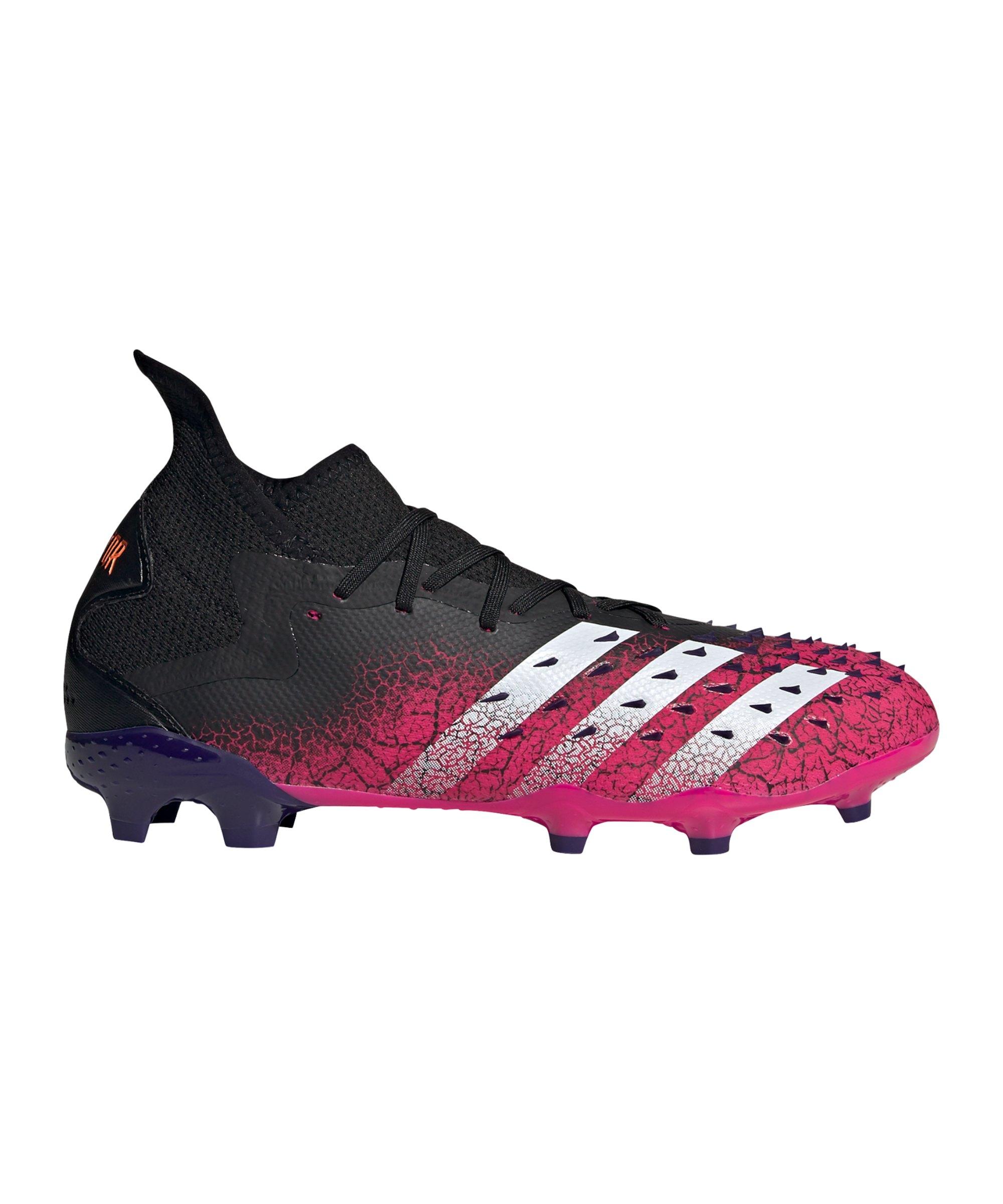 adidas Predator FREAK.2 FG Superspectral Schwarz Weiss Pink - schwarz