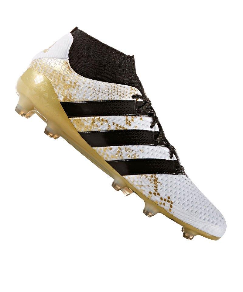 adidas FG ACE 16.1 Primeknit Weiss Gold - weiss