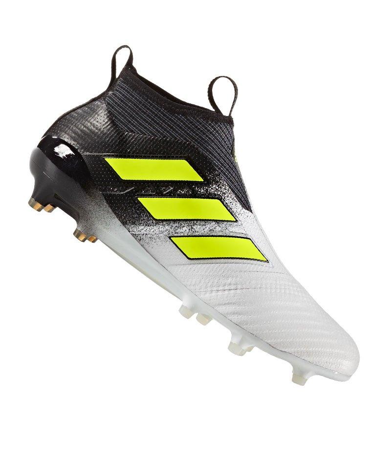 adidas FG ACE 17+ Purecontrol Weiss Gelb Schwarz - weiss