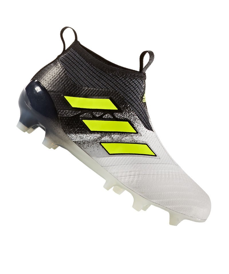 adidas FG ACE 17+ Purecontrol J Kinder Weiss Gelb - weiss