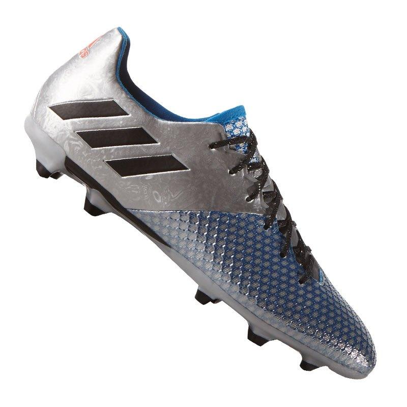 adidas 16.2 FG Messi Silber Schwarz - silber