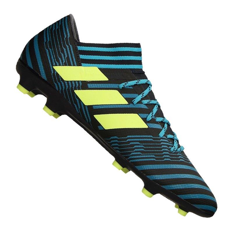 adidas FG NEMEZIZ 17.3 Blau Gelb - blau