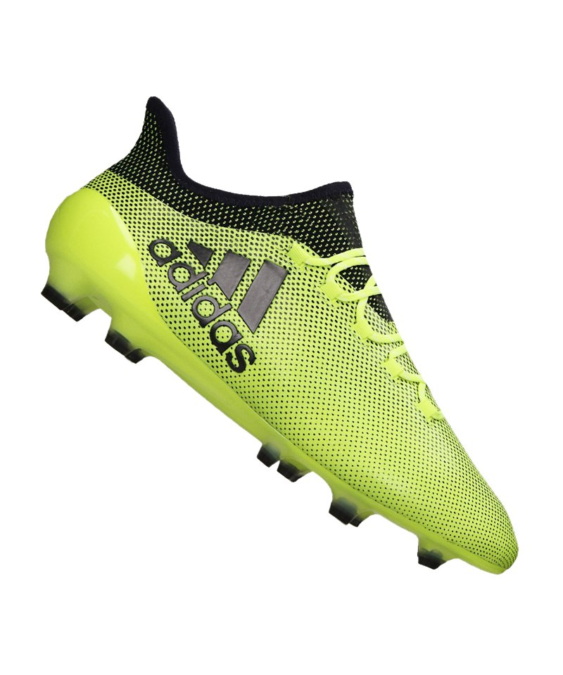 adidas FG X 17.1 Gelb Blau - gelb
